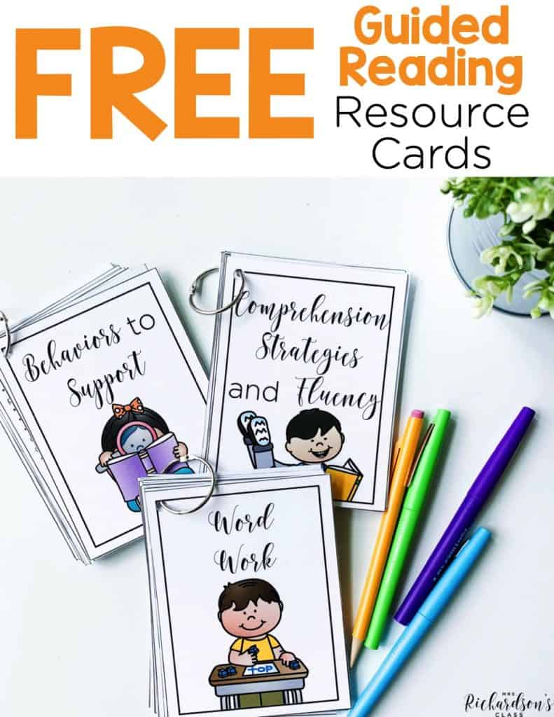 How to Get Organized for Guided Reading {with a FREEBIE}