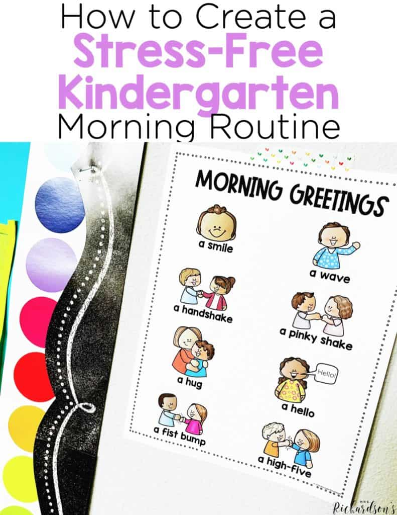How To Create a Stress-Free Kindergarten Morning Routine