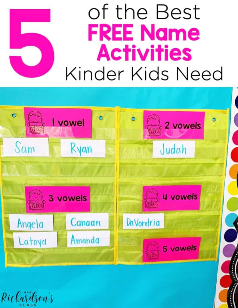 5 of the Best FREE Name Activities Kinder Kids Need