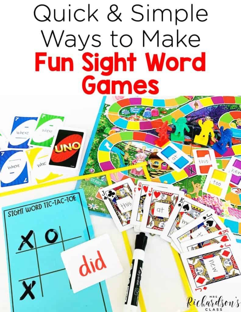 Quick and Simple Ways to Make Fun Sight Word Games