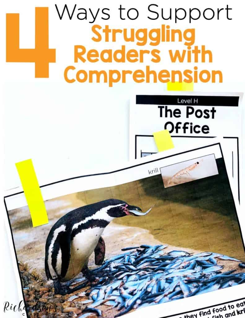 4 Ways to Support Struggling Readers with Comprehension