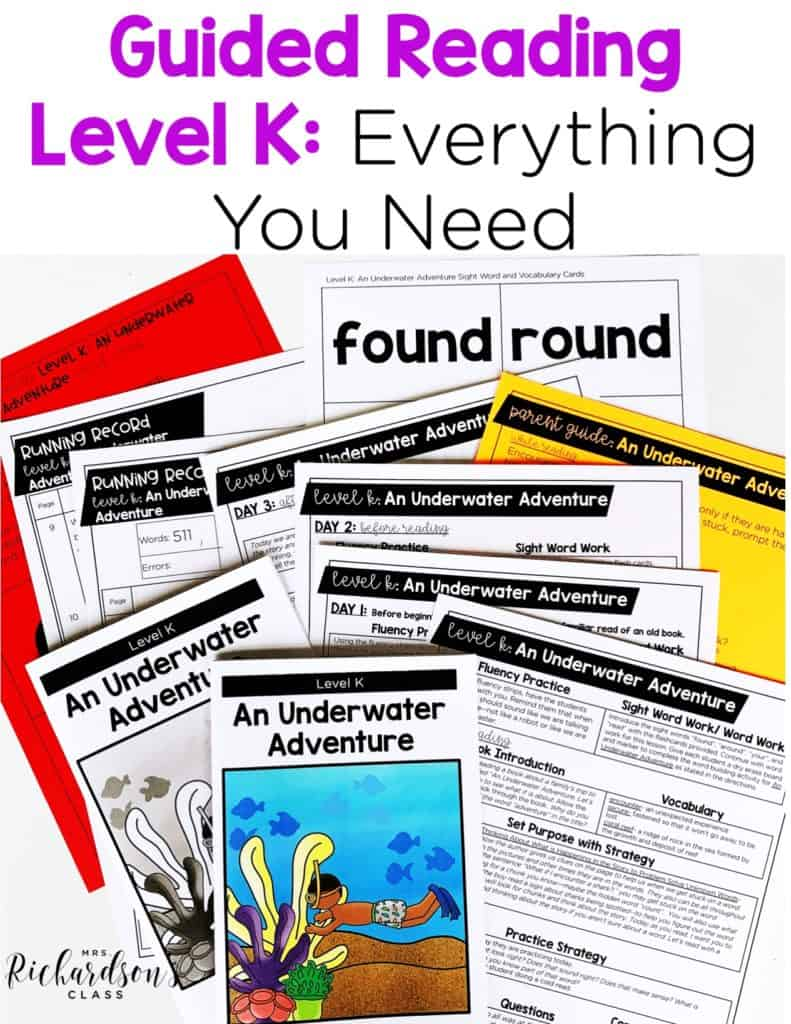Guided Reading Level K: Everything You Need to Advance Readers