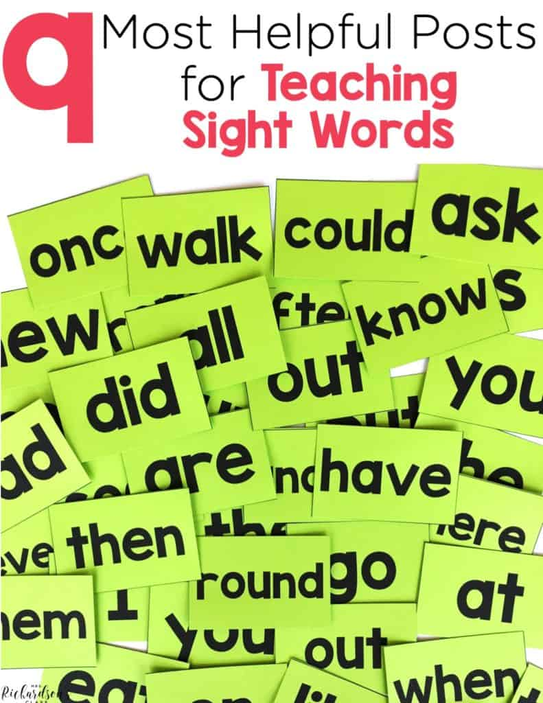 The Top 9 Most Helpful Posts for Teaching Sight Words