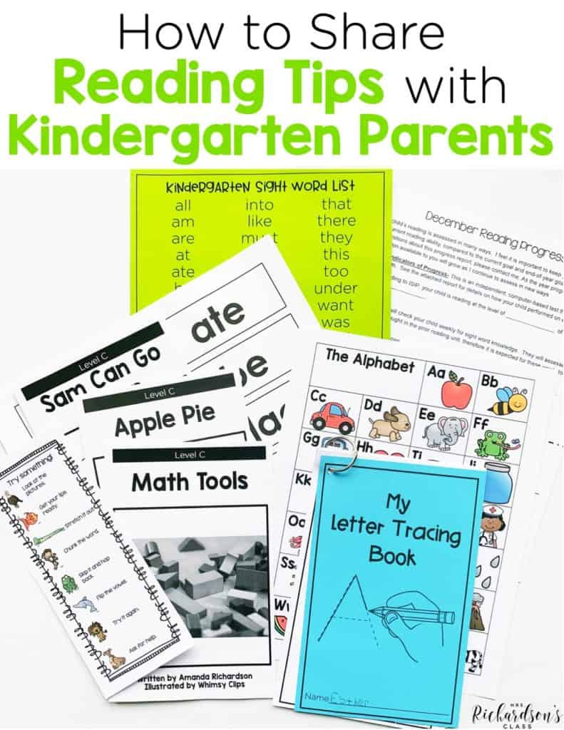 How to Share Reading Tips for Your Kindergarten Parents