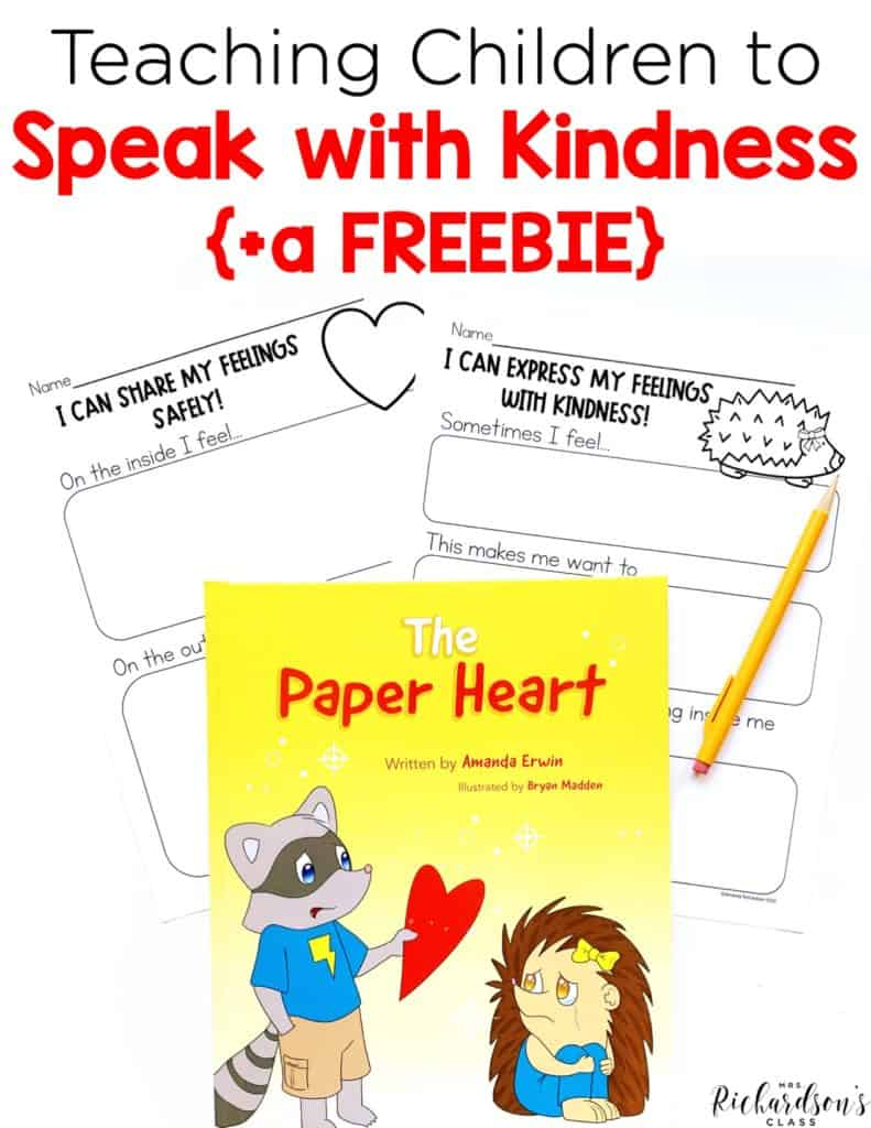 Teaching Children to Speak with Kindness {and a FREEBIE}