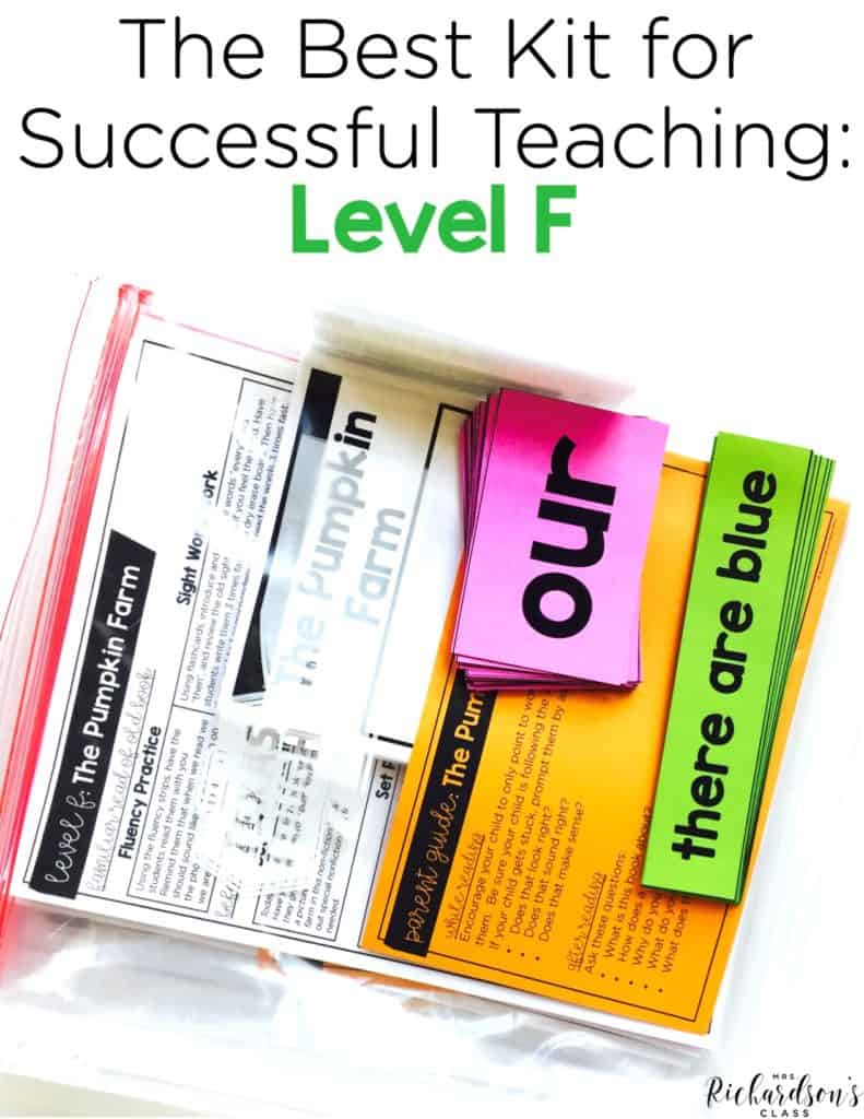 Guided Reading Level F: The Best Kit for Successful Teaching