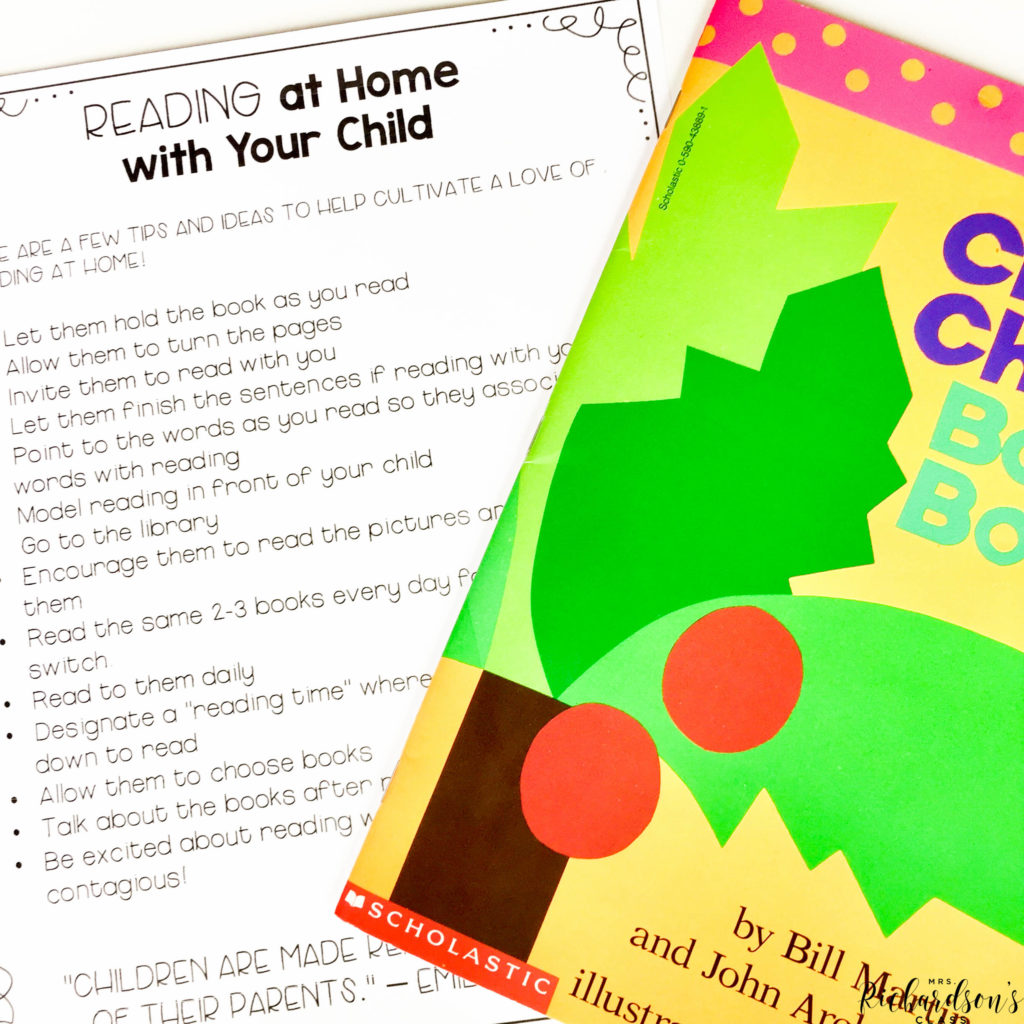 A free printable handout to encourage reading at home while distance learning or in person.