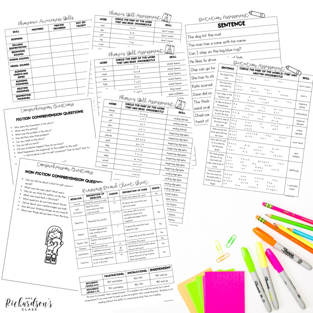 A free toolkit to help complete reading assessments in kindergarten and first grade.