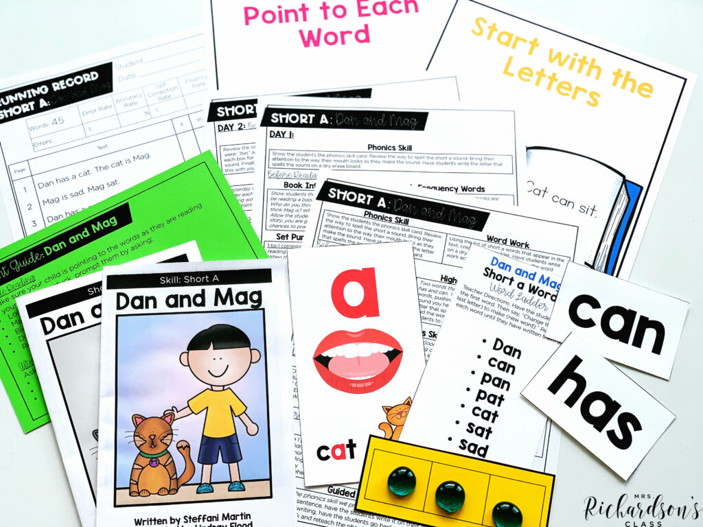 You can use decodable readers to get started on the first day of guided reading.