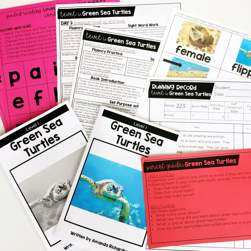 You can use leveled readers to get started on the first day of guided reading.